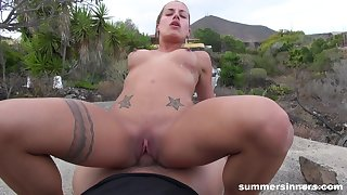 SummerSinners - Silvia Dellai POV Fucked Outdoors