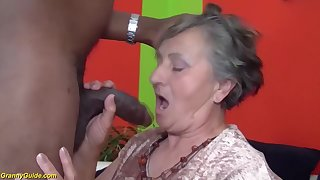 80 years elderly grandmother very first multiracial