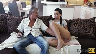 Old fart enjoys bonking cute stepdaughter's phase Jessica