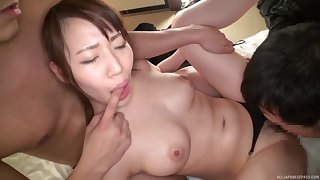 Matsumoto Honoka is between her handsome lovers not later than a threesome