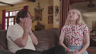 Cute teenage Alina West fucks her old stepdad