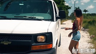 Kitty Carrera gets fucked by a stranger and that mendicant is an experienced master