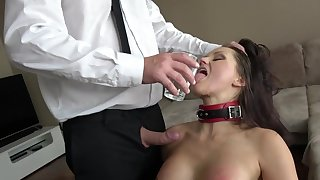 Submissive MILF pleases scalding boss with insane BDSM porn