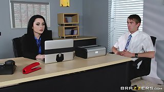 Veruca James fucked in will not hear of pussy and ass on the office table