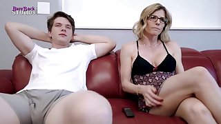 Mischievous light-haired mother, Cory Pursue is about to have red-hot bang-out to her step- son-in-law